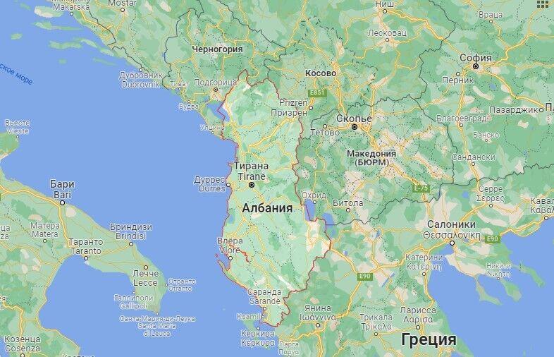 Где находится Албания