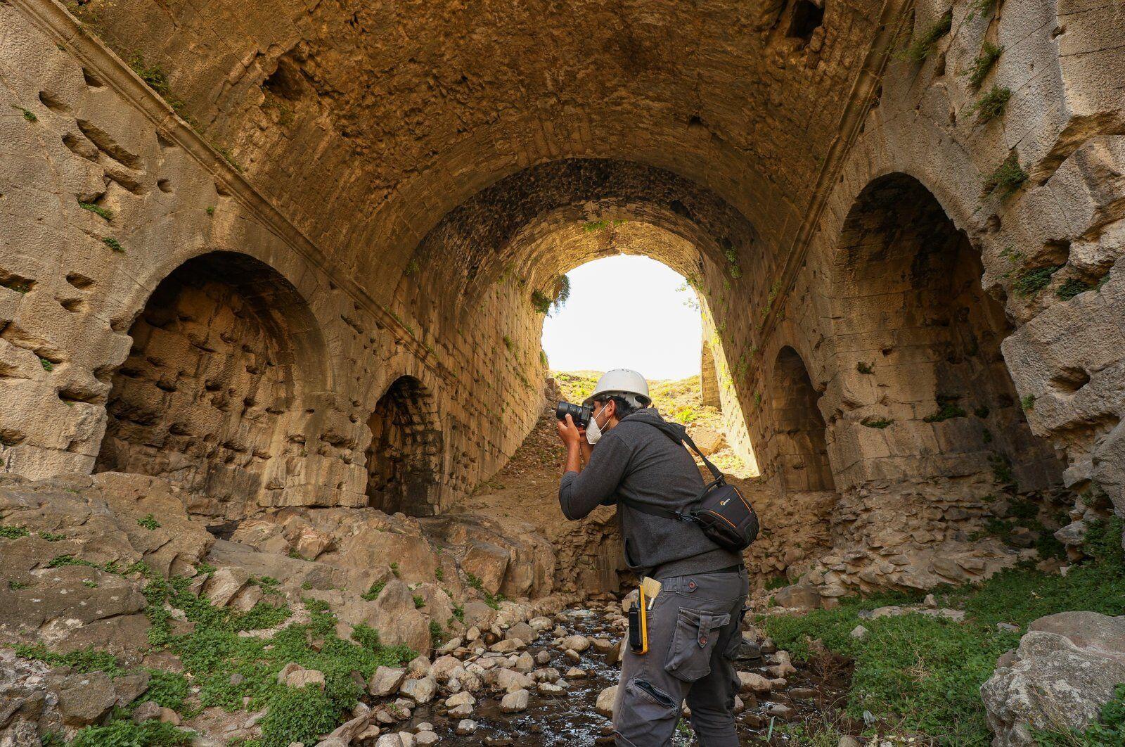 Раскопки древнего города Пергам