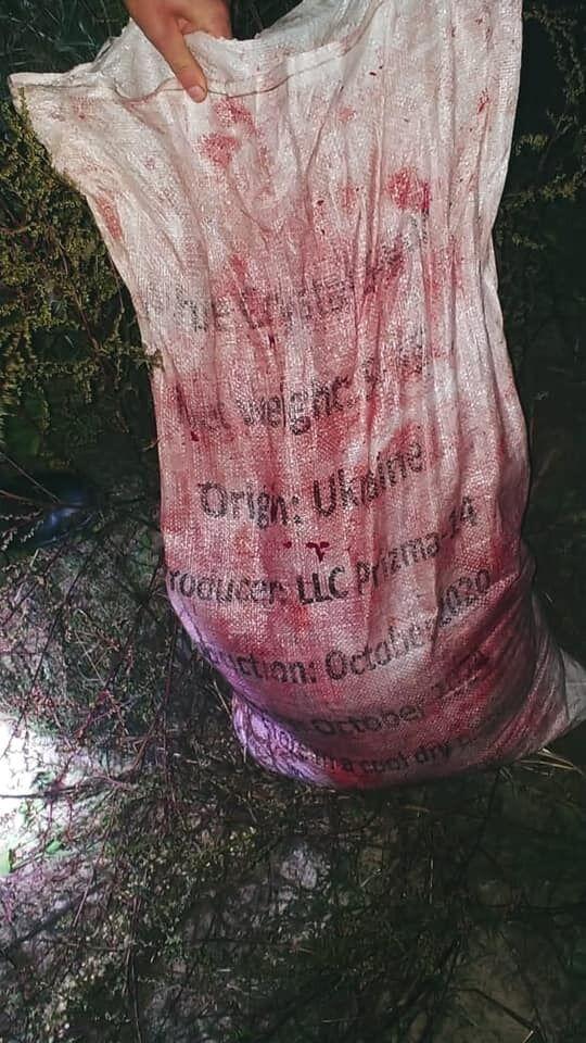 И окровавленные мешки с мясом