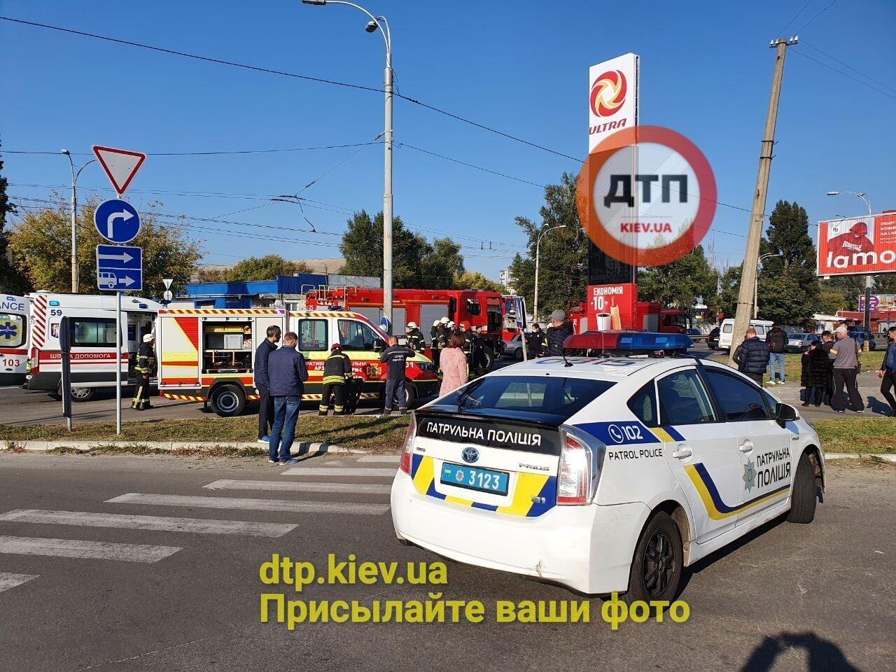 Полицейское авто на месте ДТП