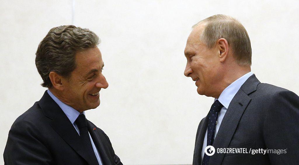 Саркози и Путин в Москве (2015 год)