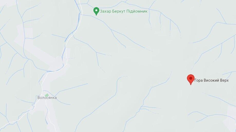 Инцидент произошел в горах возле села Волынянка