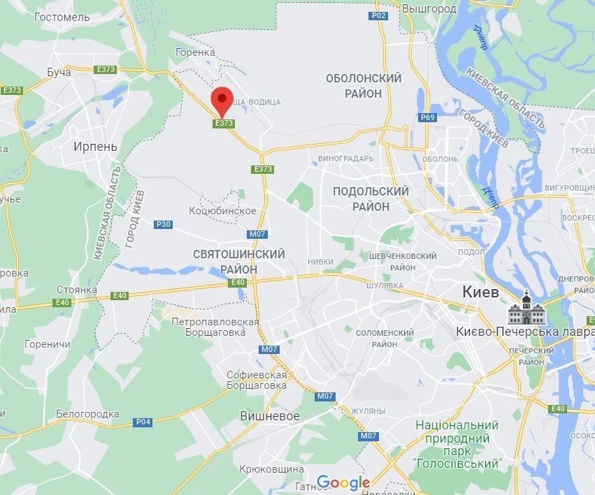 Гостомельське шосе в Києві.