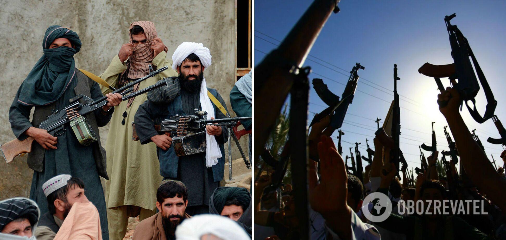 Талибы открыли стрельбу в воздух.