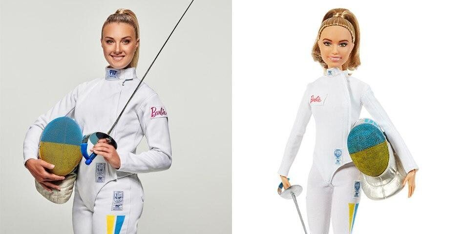 Ольга Харлан и ее кукла