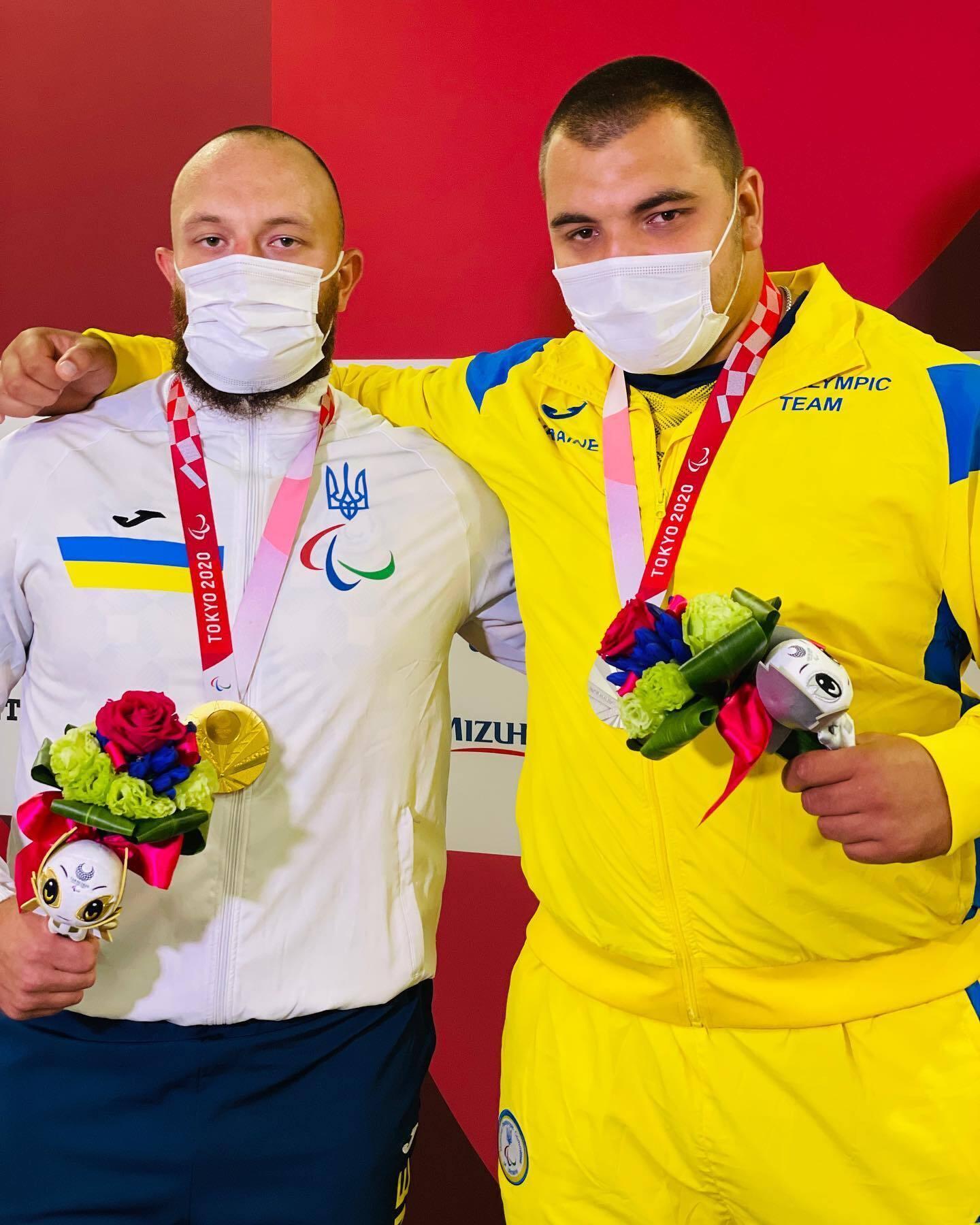 Українці Максим Коваль та Олександр Яровий на нагородженні.