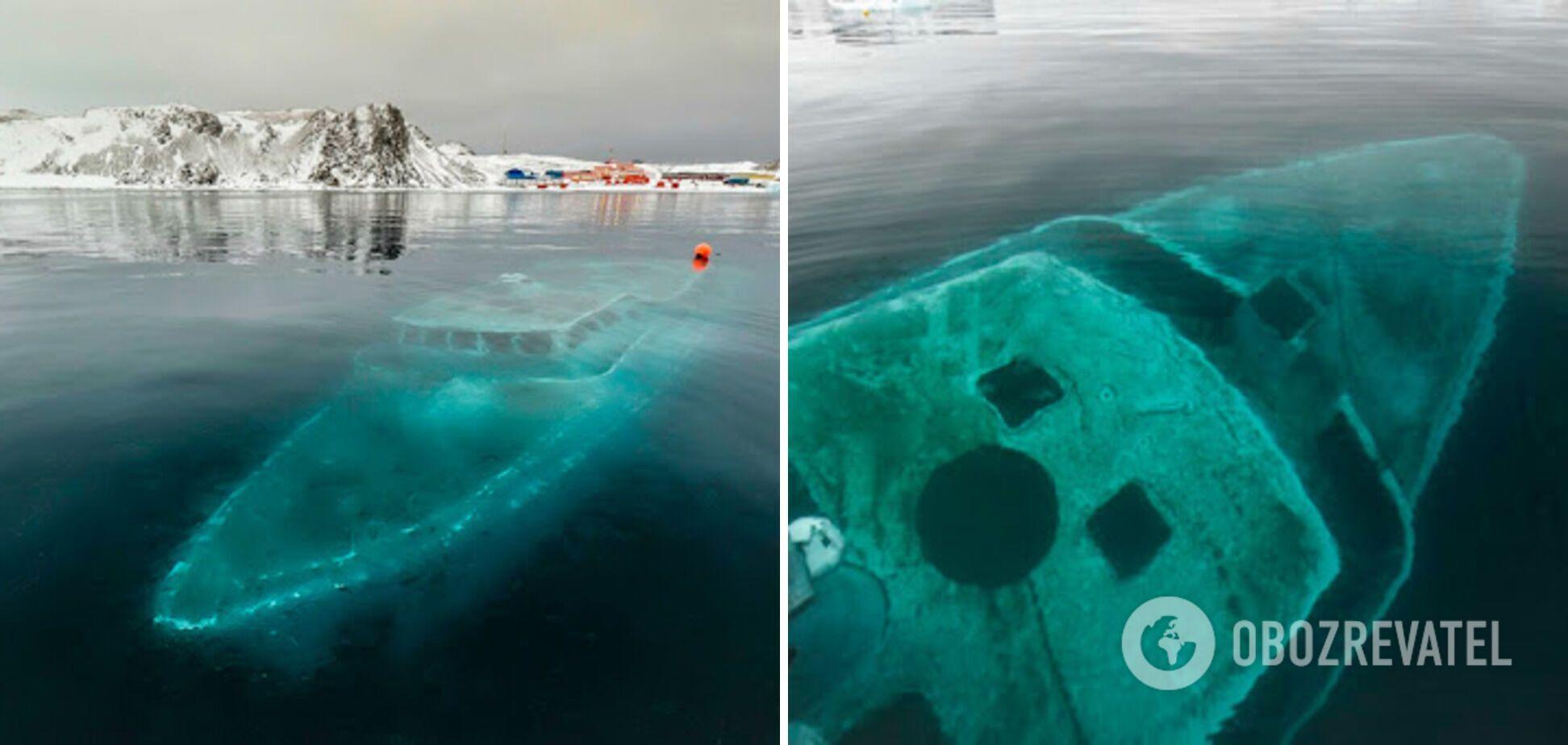 Затонувшую яхту называют призраком Антарктики
