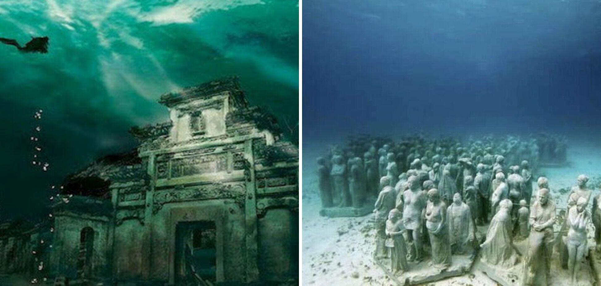 Подводный город расположенный в восточном Китае