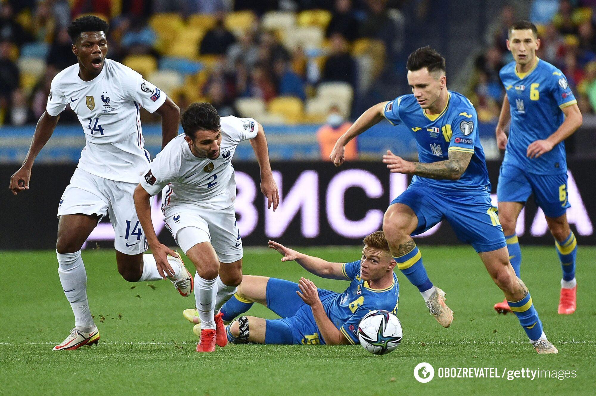 Шапаренко в матчі проти Франції
