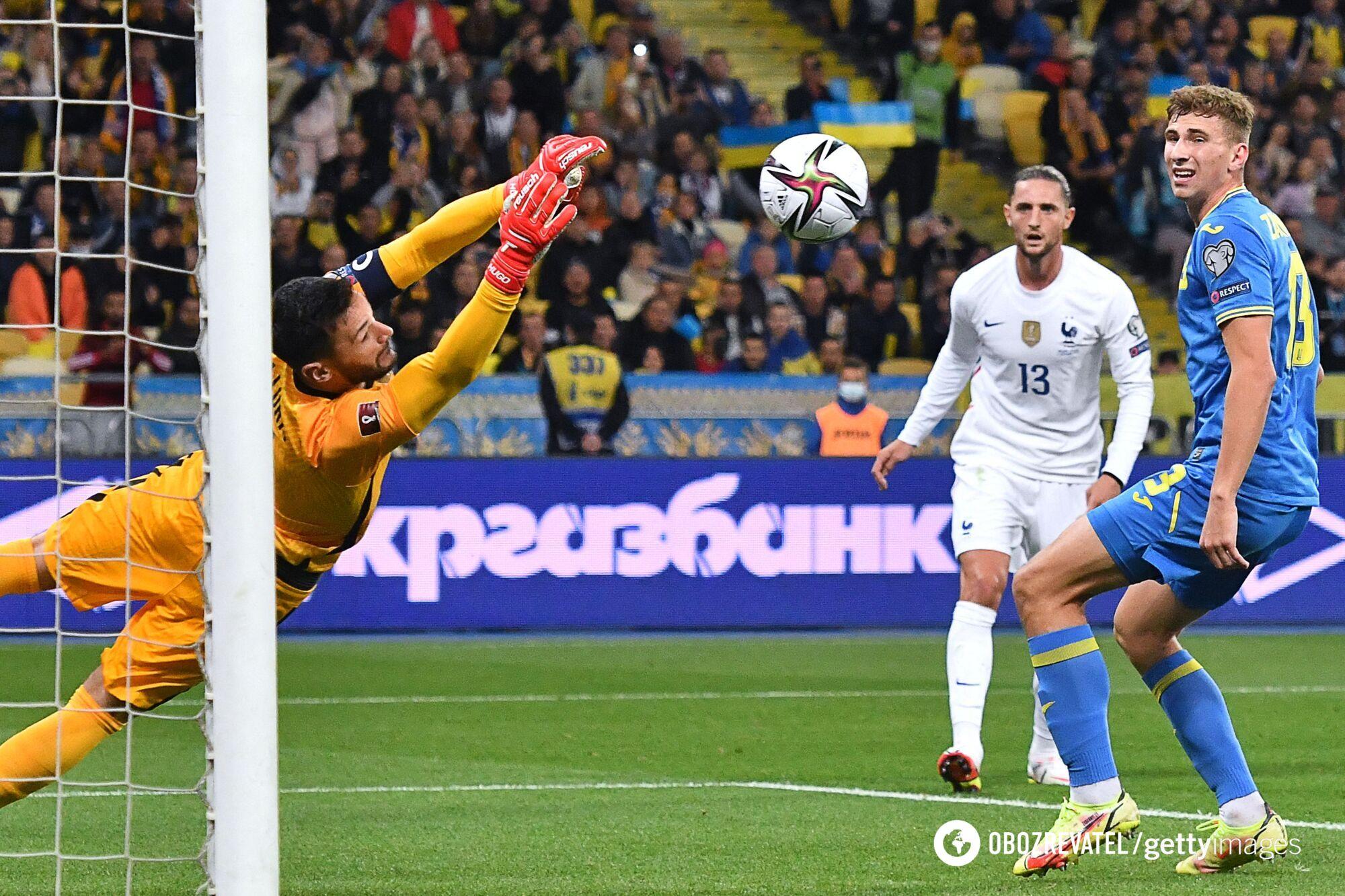 Украина упустила победу над Францией