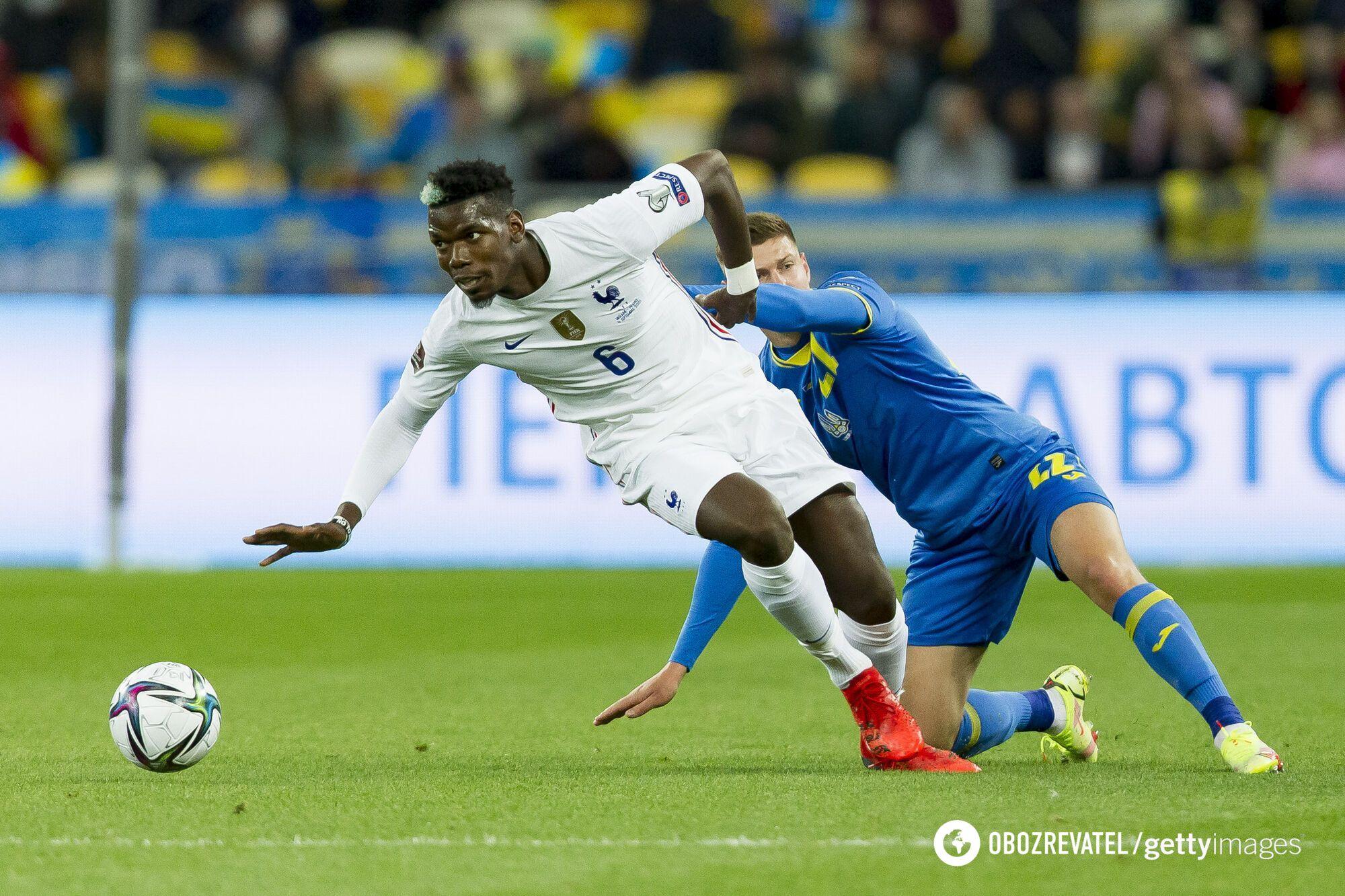 Украина и Франция сыграли вничью 1:1.