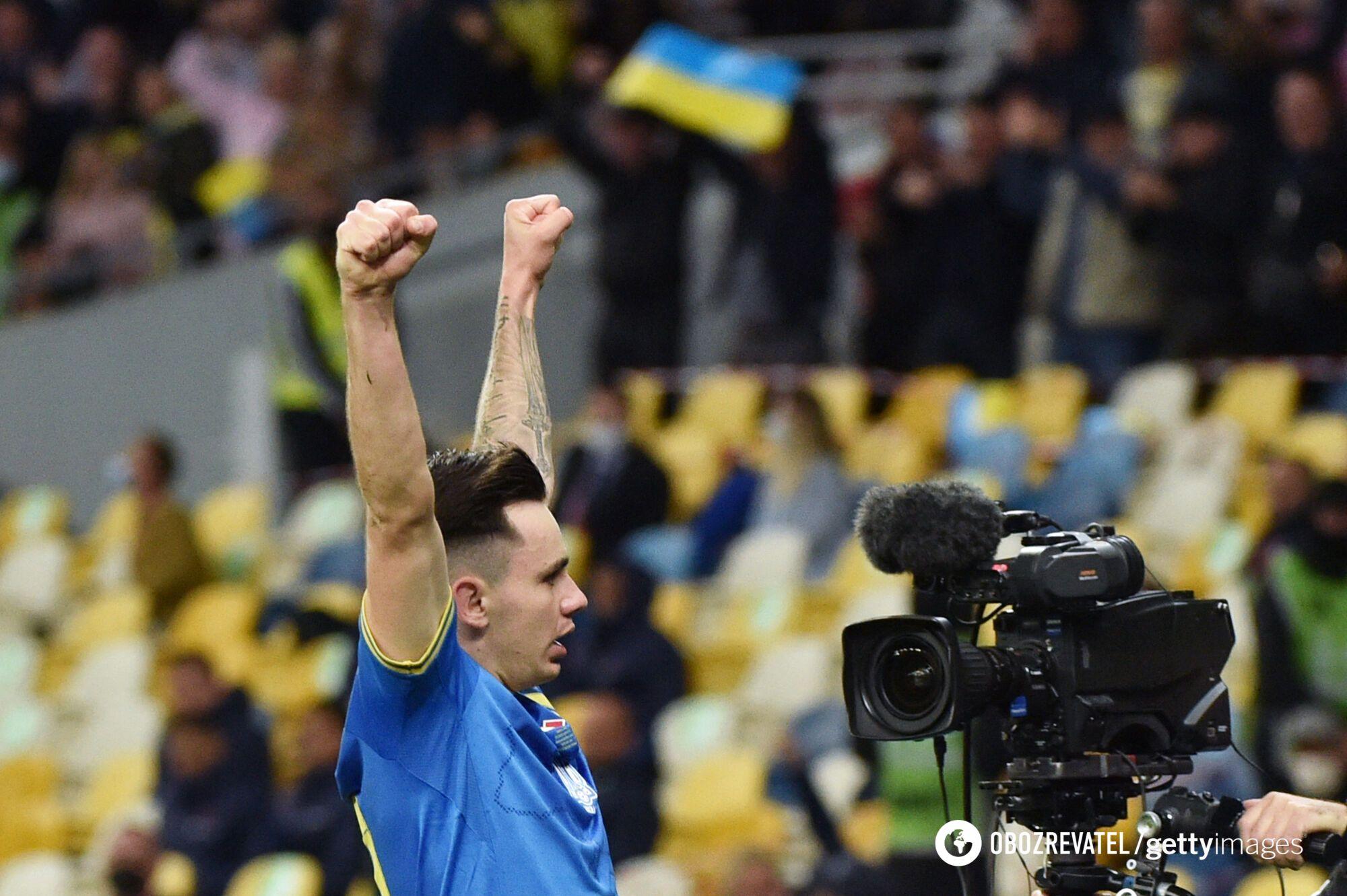 Николай Шапаренко отпраздновал гол вместе с трибунами