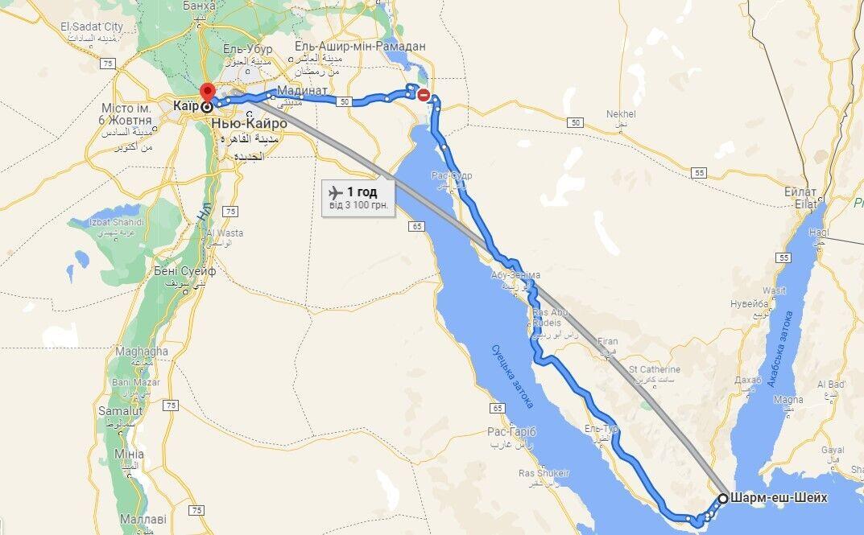 Автобус ехал из Шарм-эш-Шейха в Каир