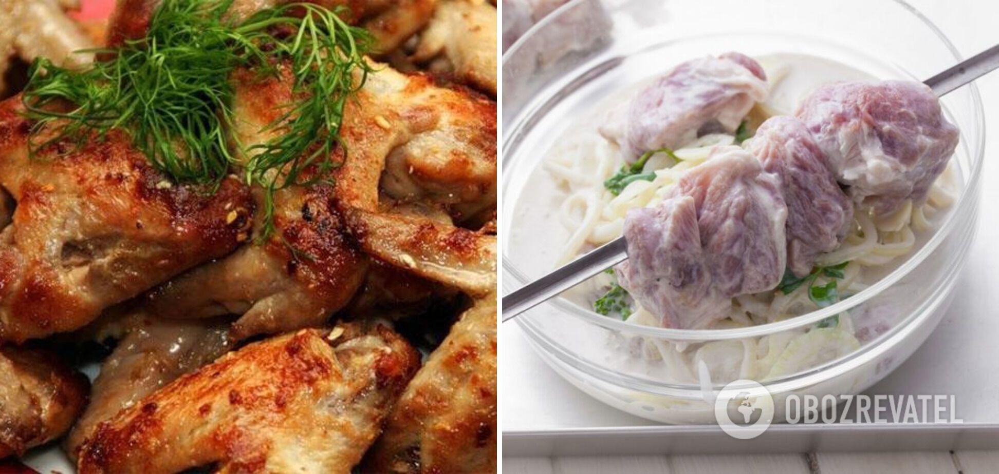 М'ясо в кефірному маринаді