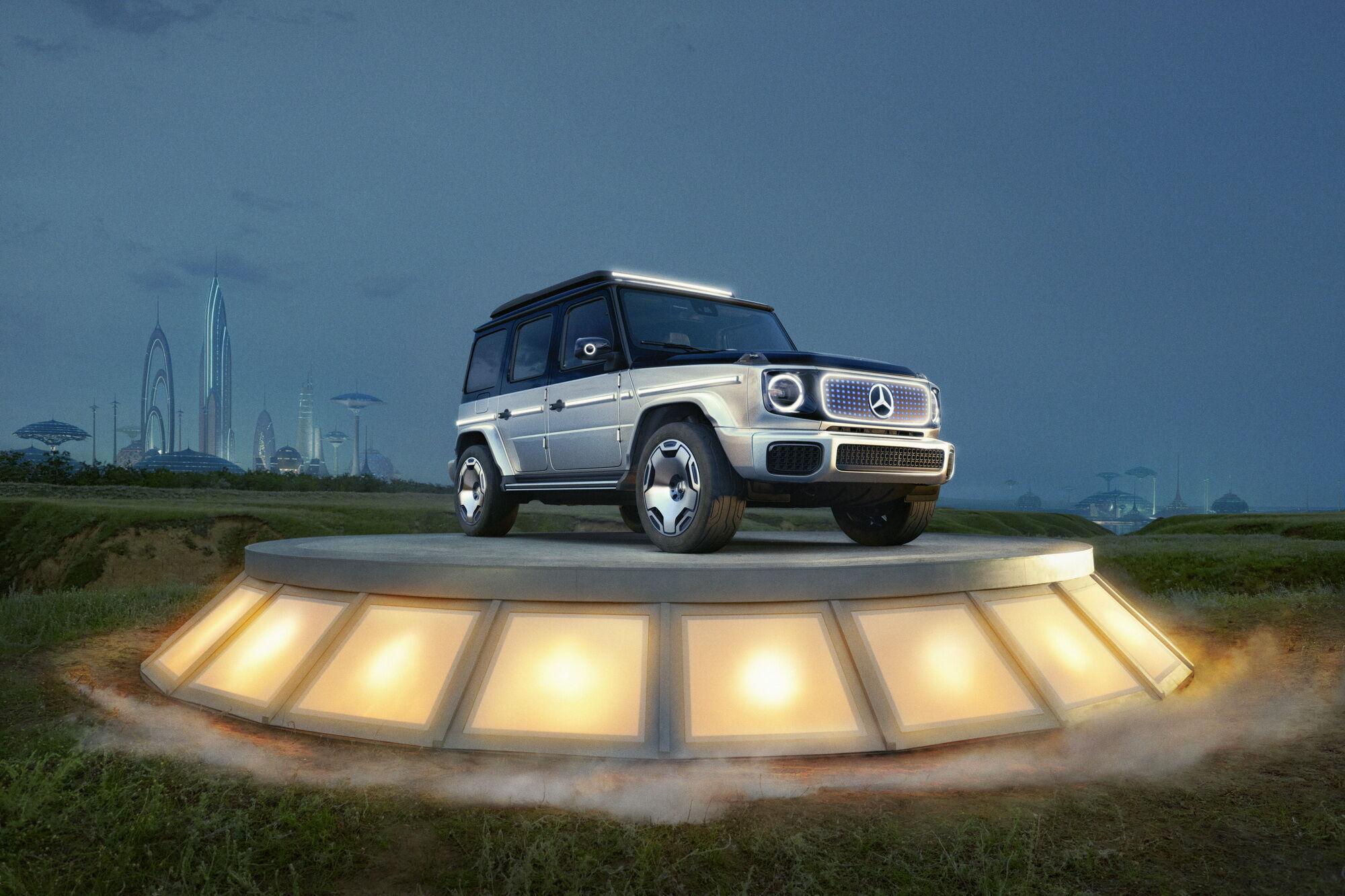 """Mercedes-Benz на """"домашней"""" выставке в Мюнхене представила прототип электрического G-Class"""