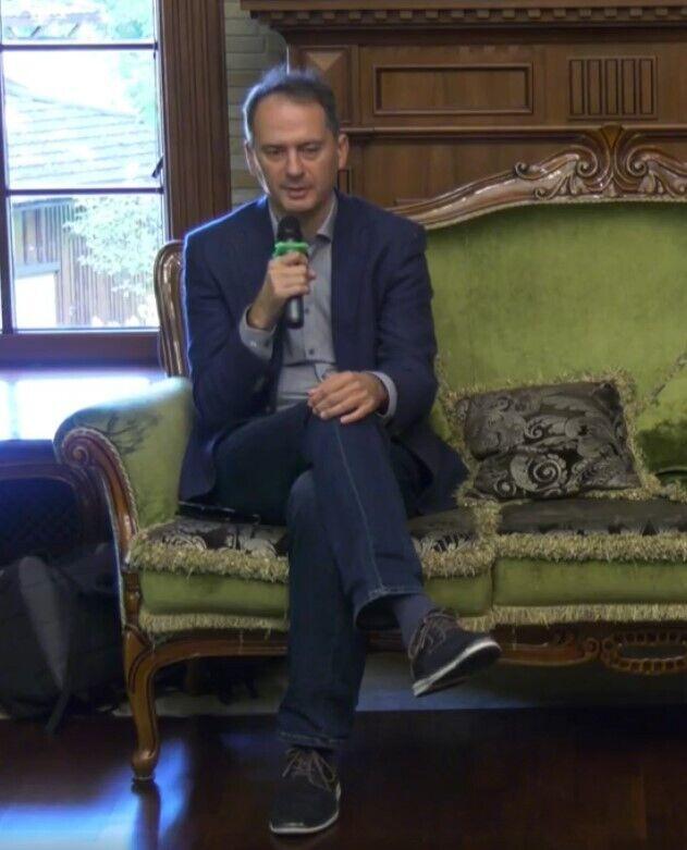 Христо Грозєв на Міжнародному фестивалі журналістики в Межигір'ї