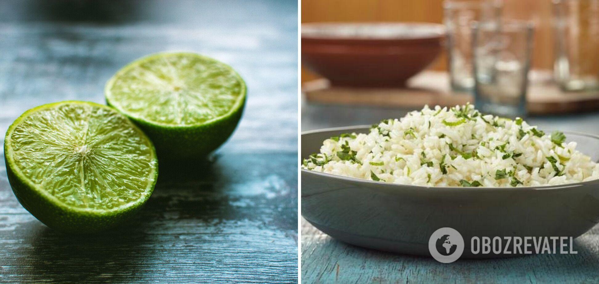 Пікантний рис з часником, лаймом і кінзою