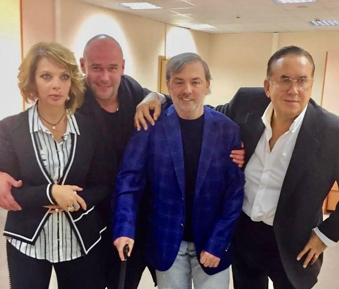 Борис Краснов з актором Станіславом Садальським.
