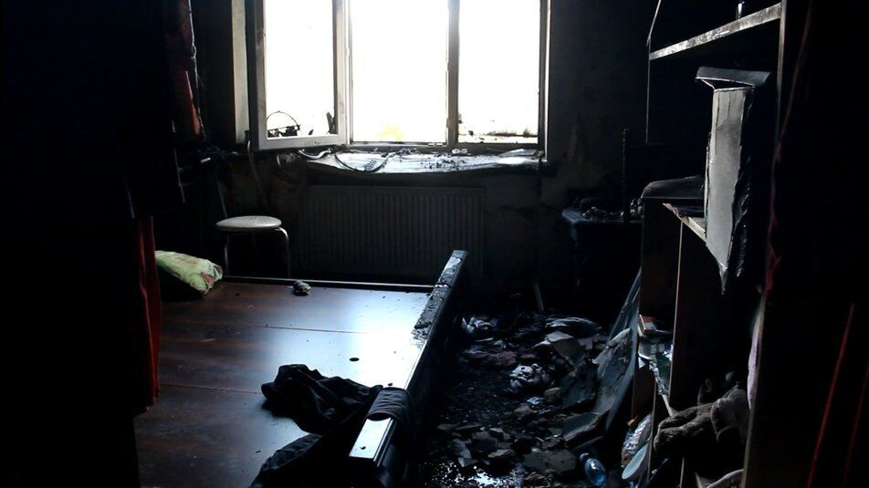 Квартира після пожежі