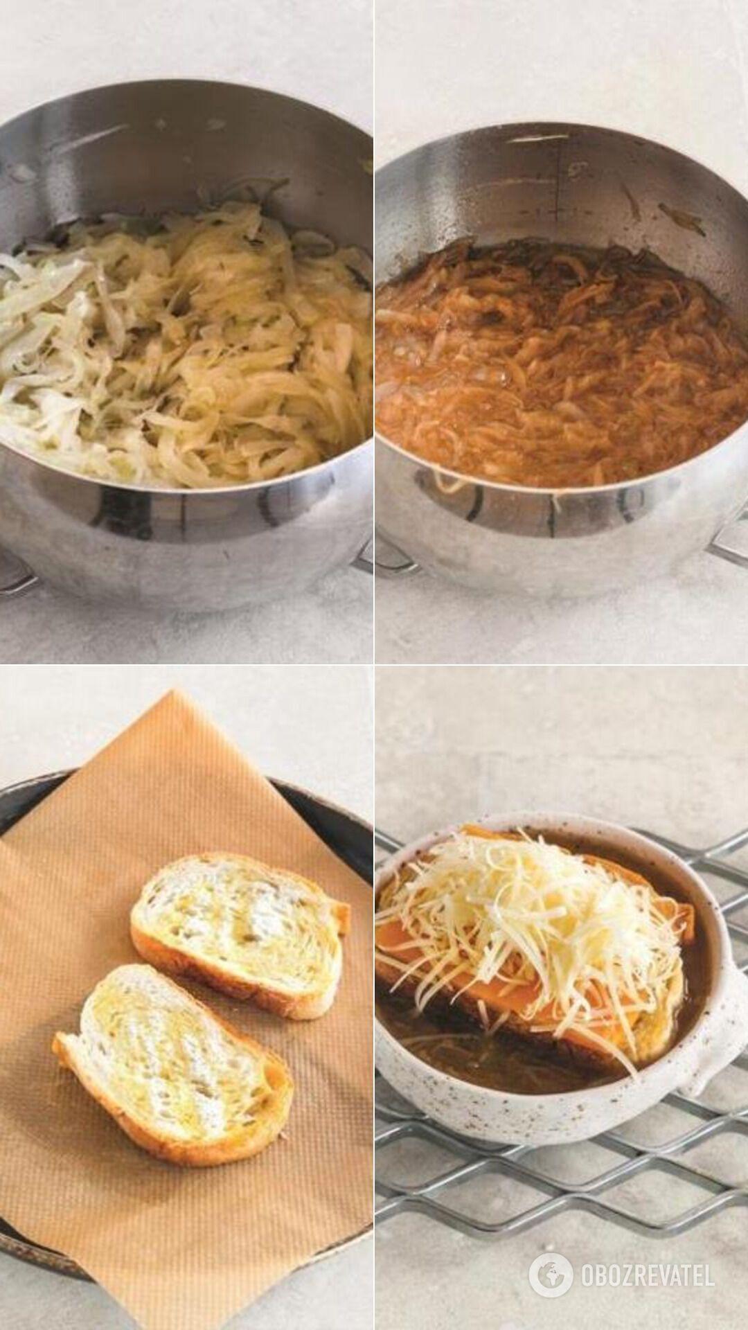 Как приготовить дома луковый суп