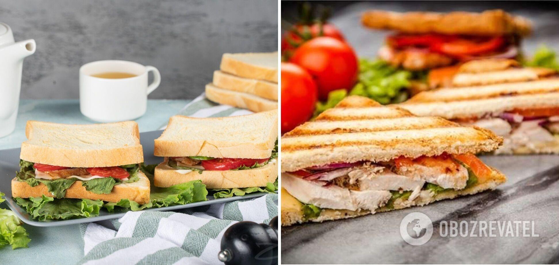 Сэндвич в духовке