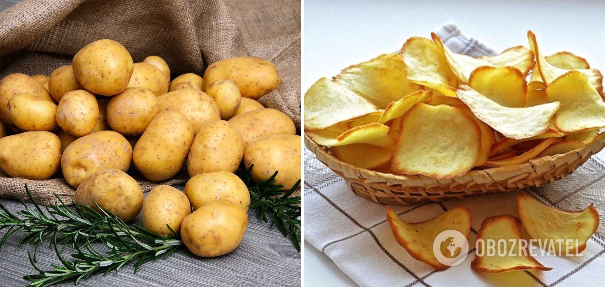Чипси з картоплі домашнього приготування