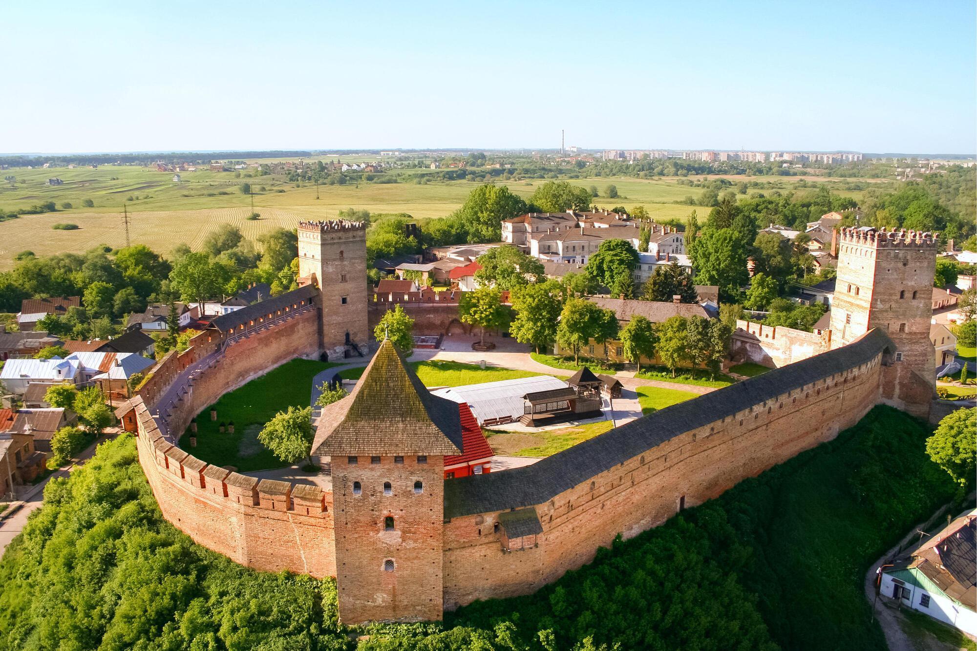 Відомий замок міста Луцьк
