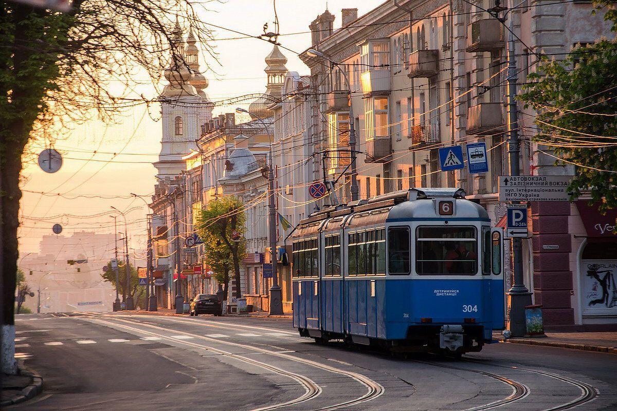 Старі вулички у місті Вінниця