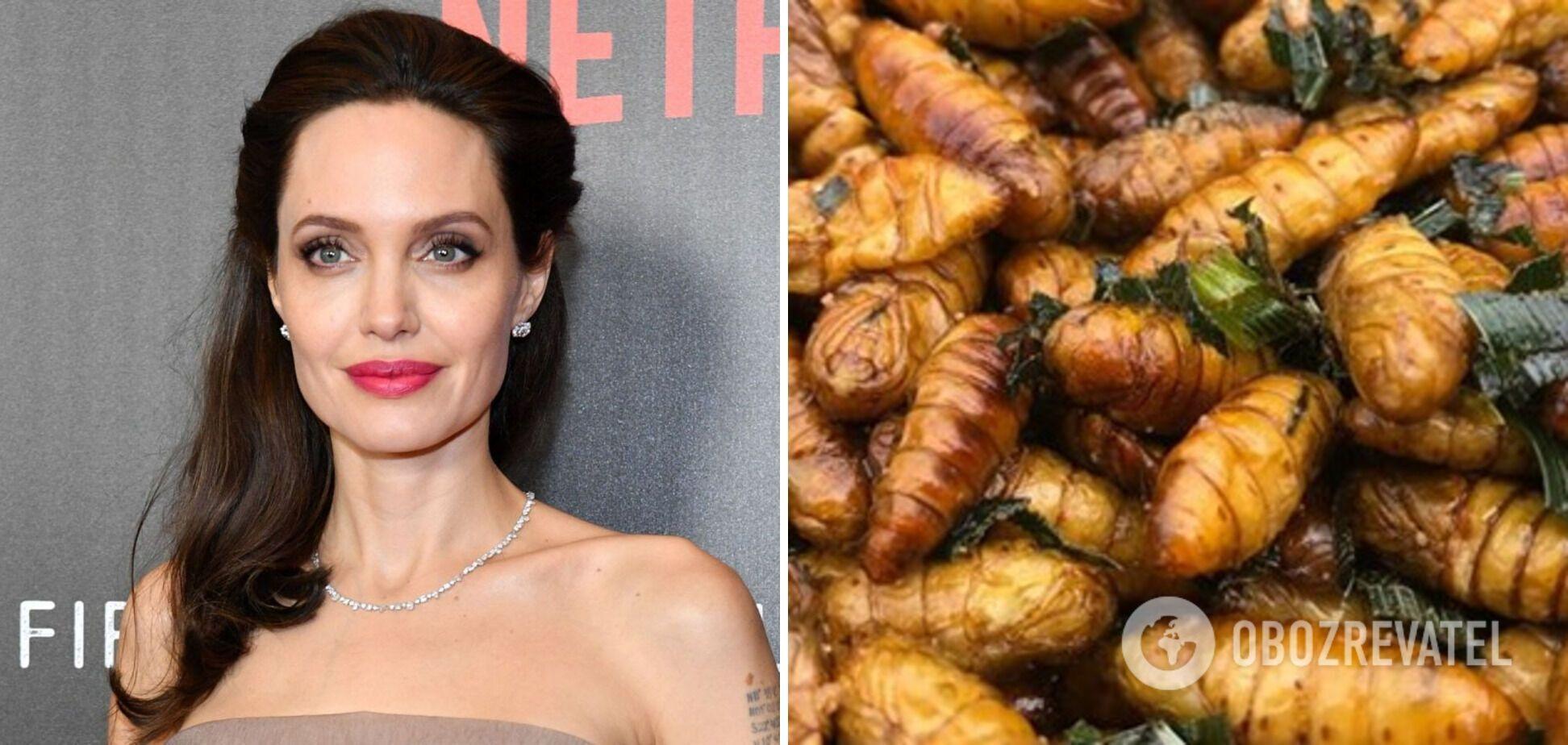 Анджеліна Джолі надає перевагу смаженим комахам