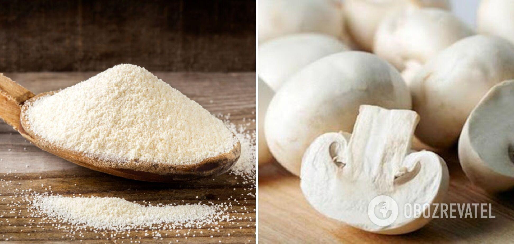 Манная крупа и шампиньоны – ингредиенты для необычного омлета