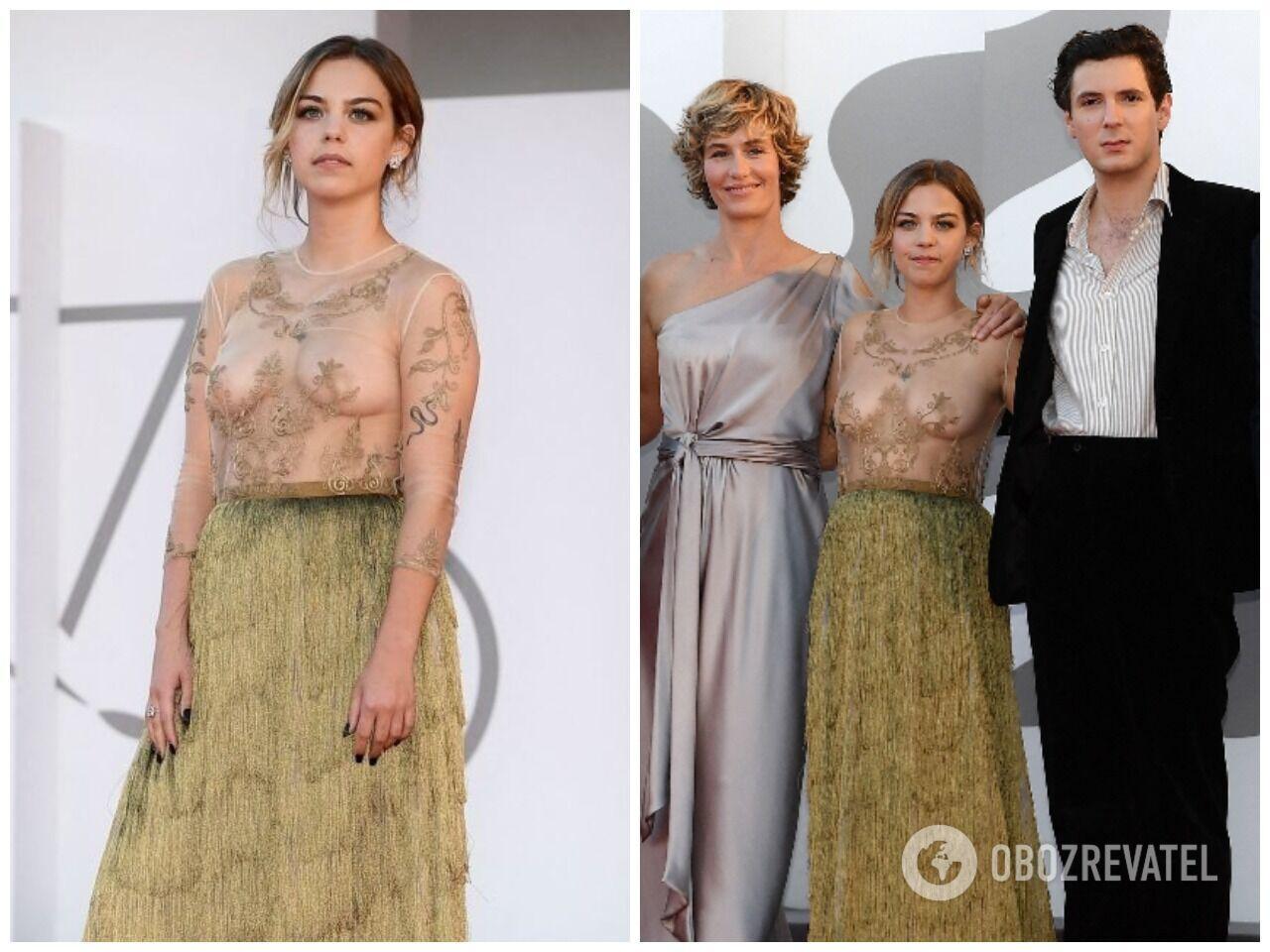 Саломе Девальс вышла в прозрачном платье