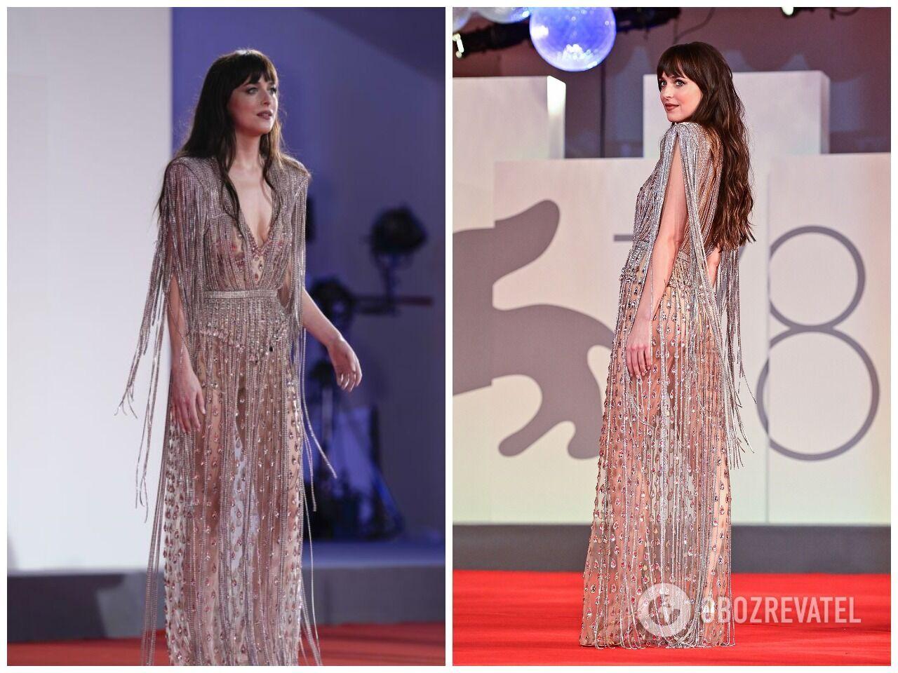 Дакота Джонсон в платье от Gucci