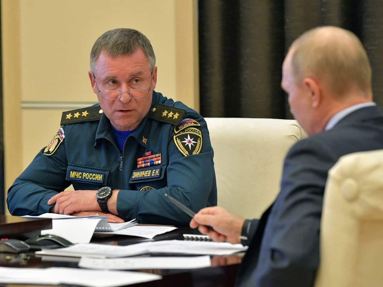 Зиничев был назначен главой МЧС с 18 мая 2018 года