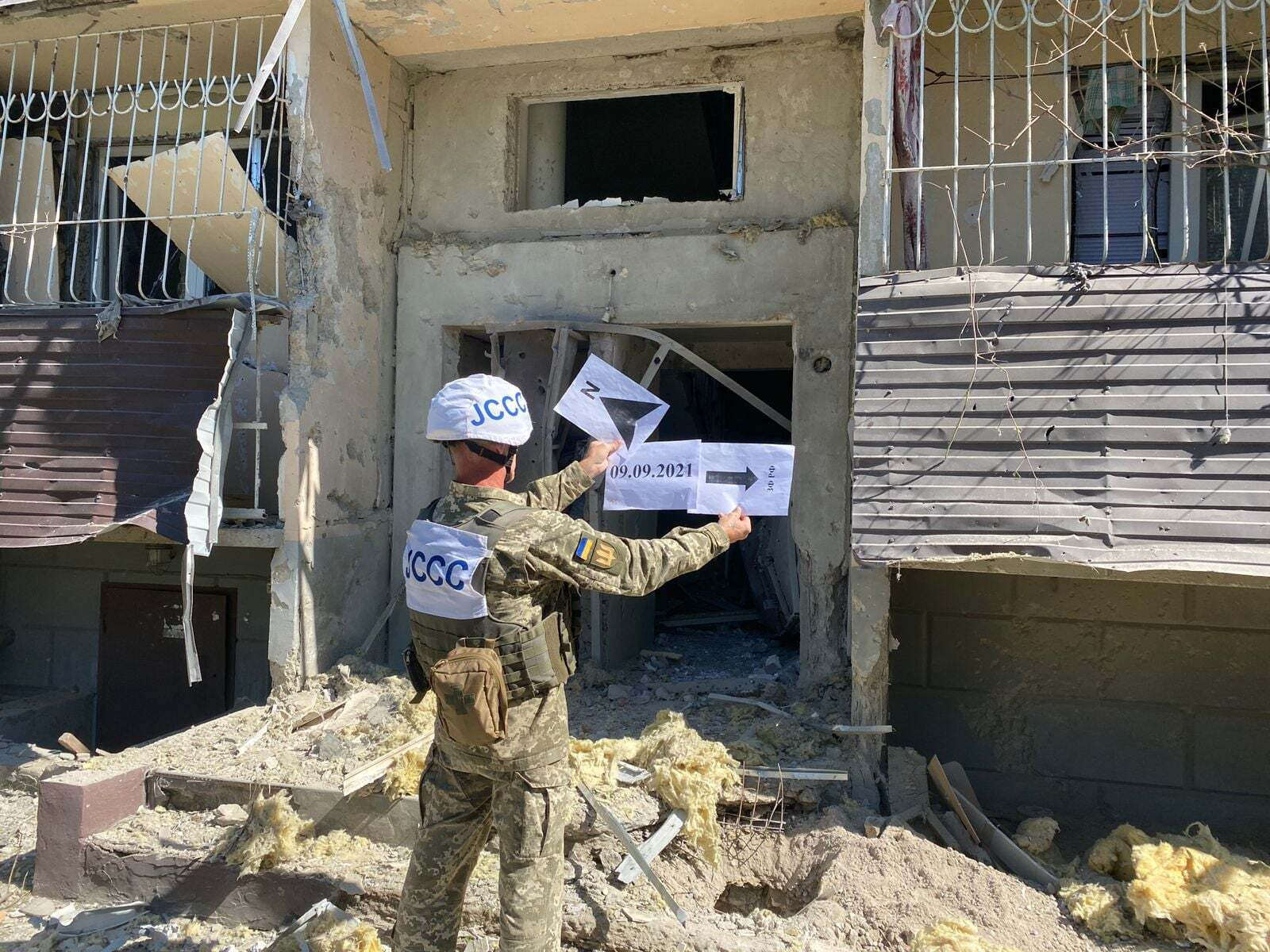 Також пошкоджено будинок