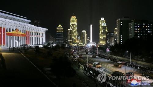 Военный парад в КНДР прошел ночью