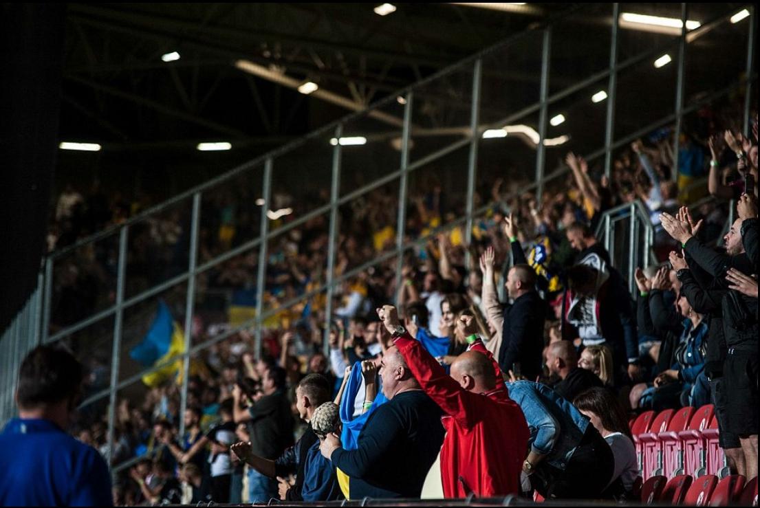 Фанаты на матче Чехия - Украина
