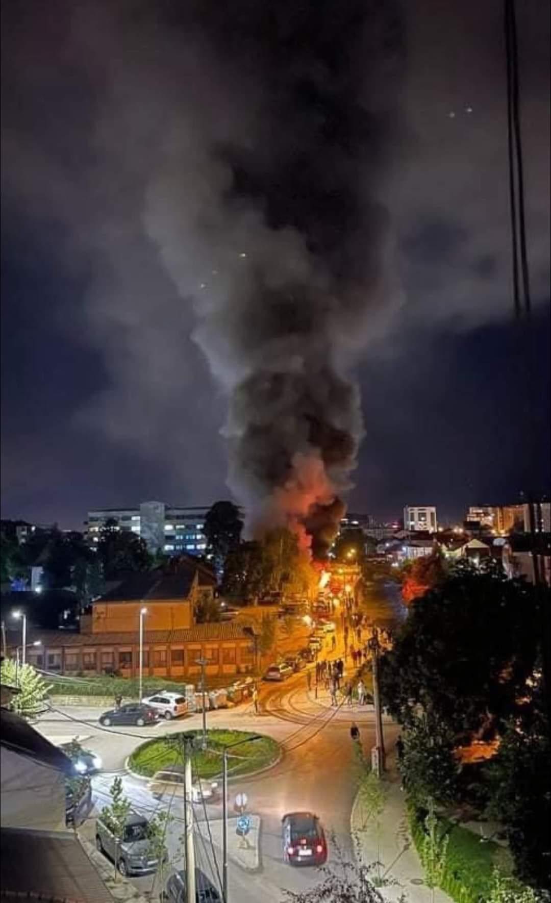 Пожар в COVID-клинике в Тетово