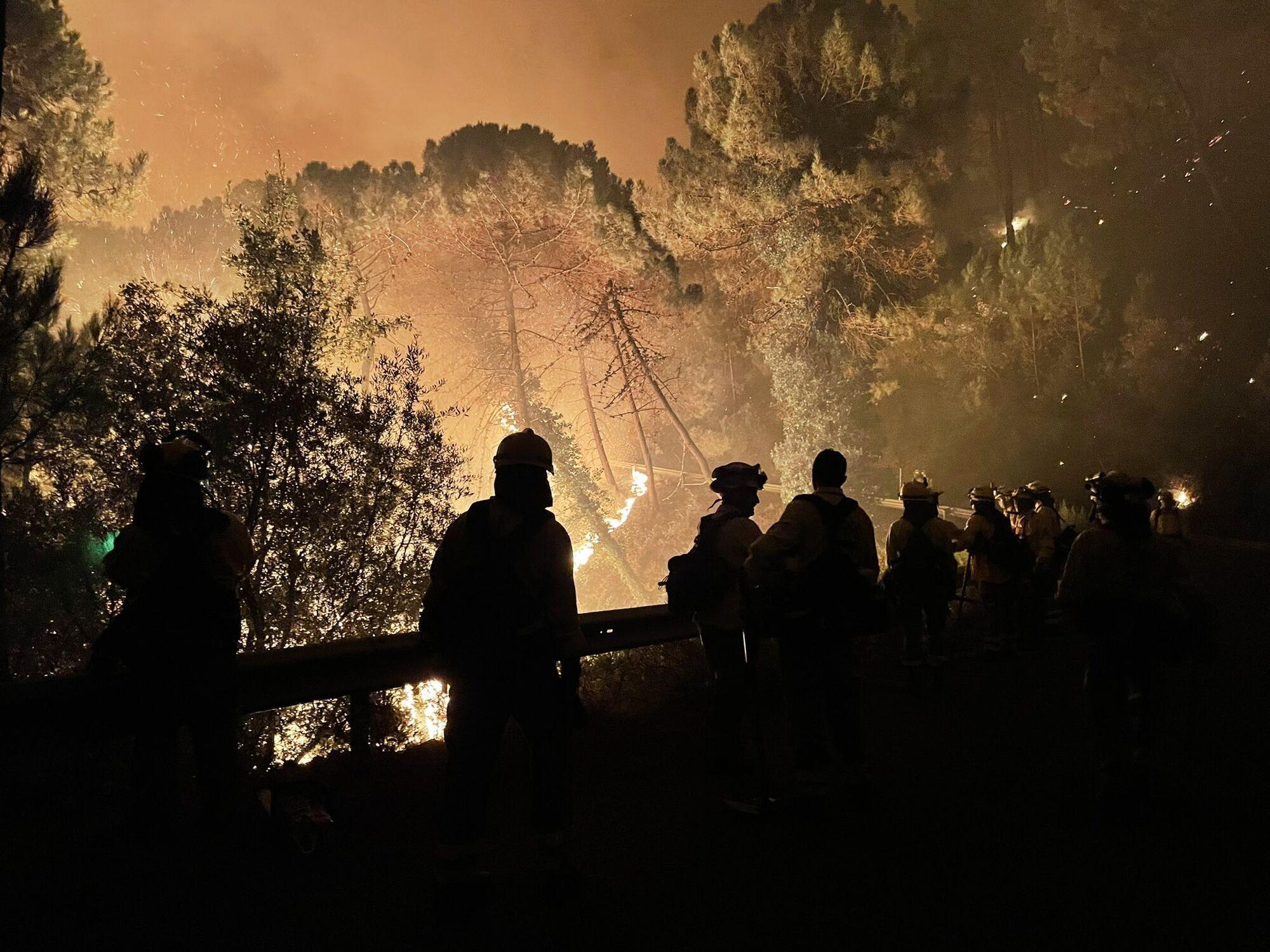 Лісова пожежа в Іспанії