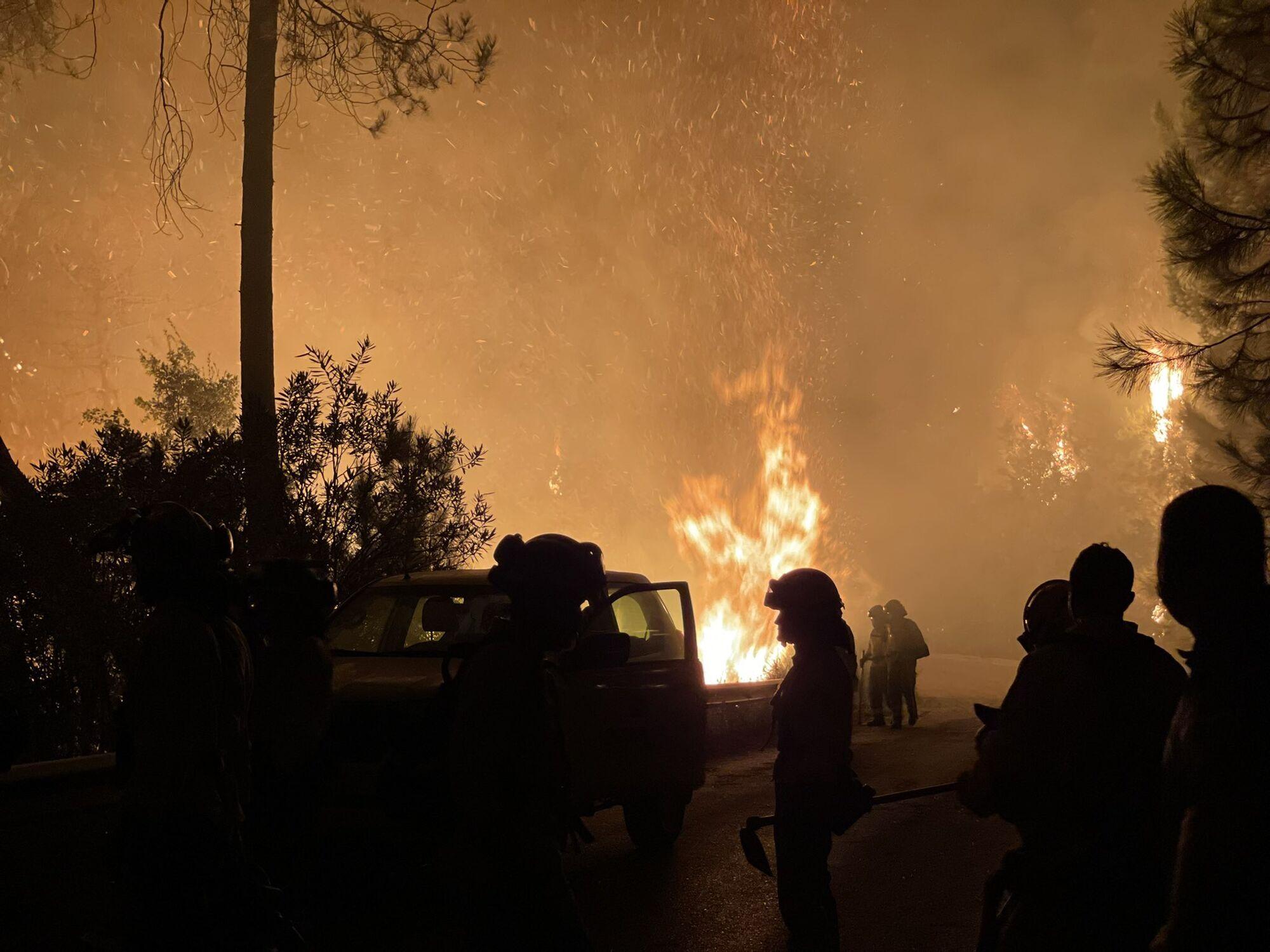 Пожежа охопила південь Іспанії