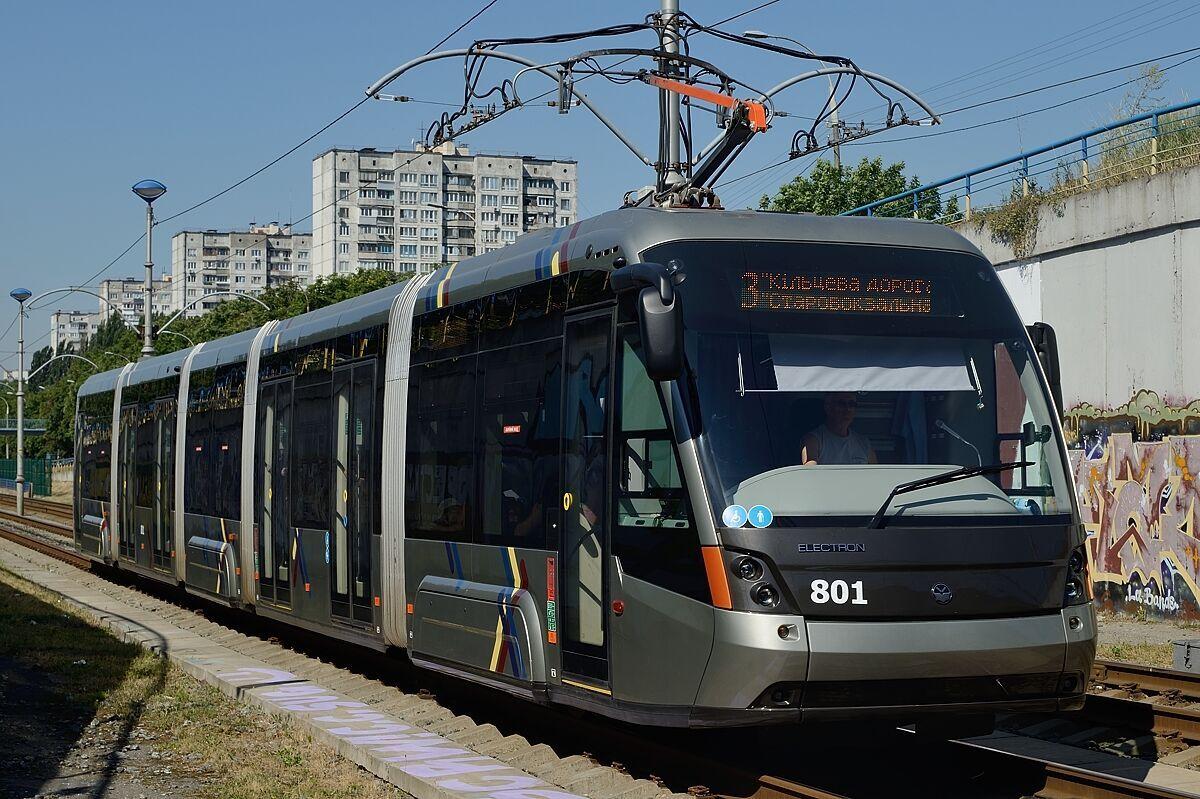 Львовский трамвай Elektron .