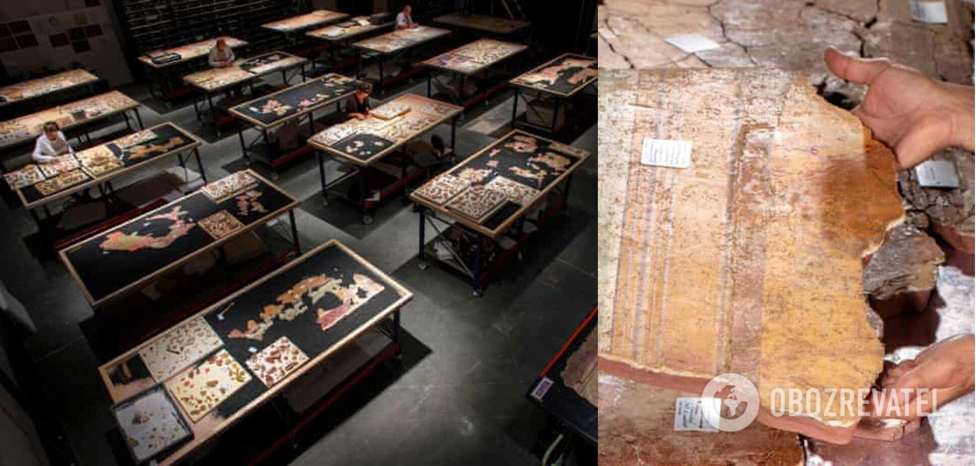 Часть фрагментов поместили в музее города Арль