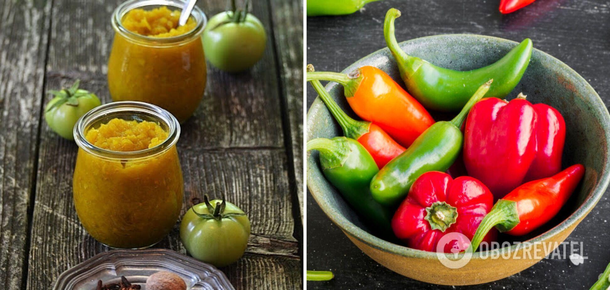 Кетчуп із зелених помідорів з перцем