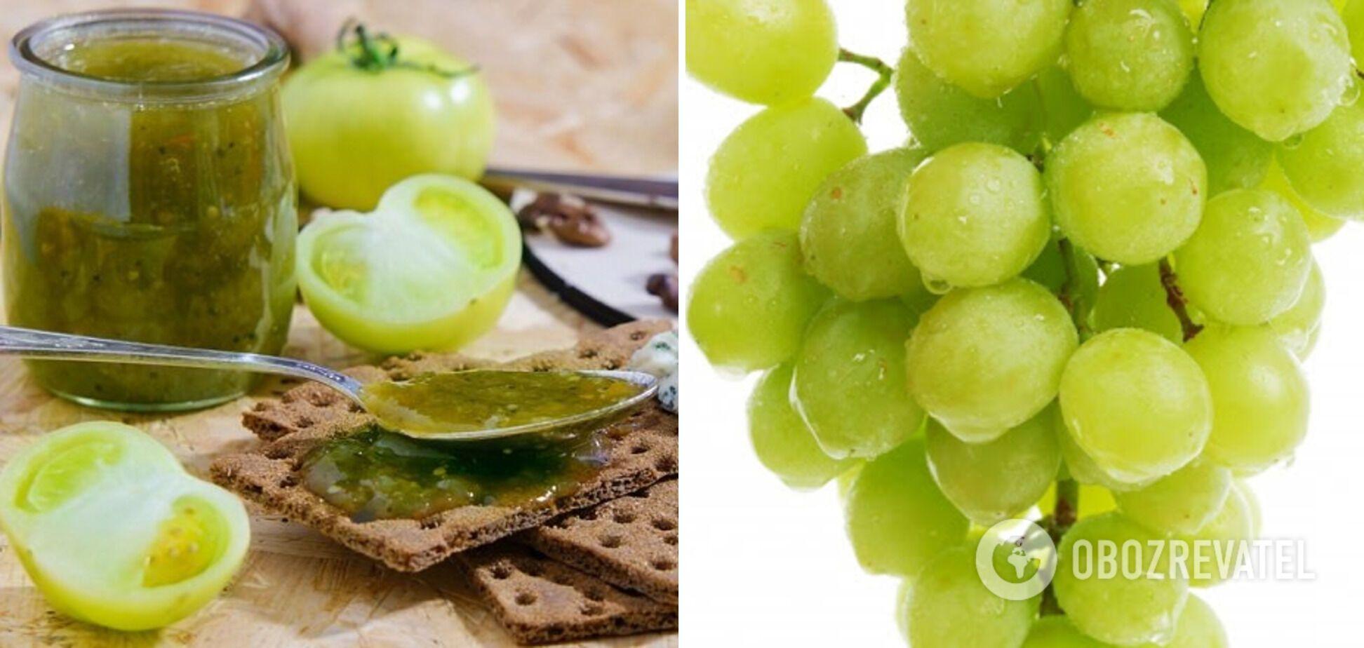 Соус із зелених помідорів з виноградом