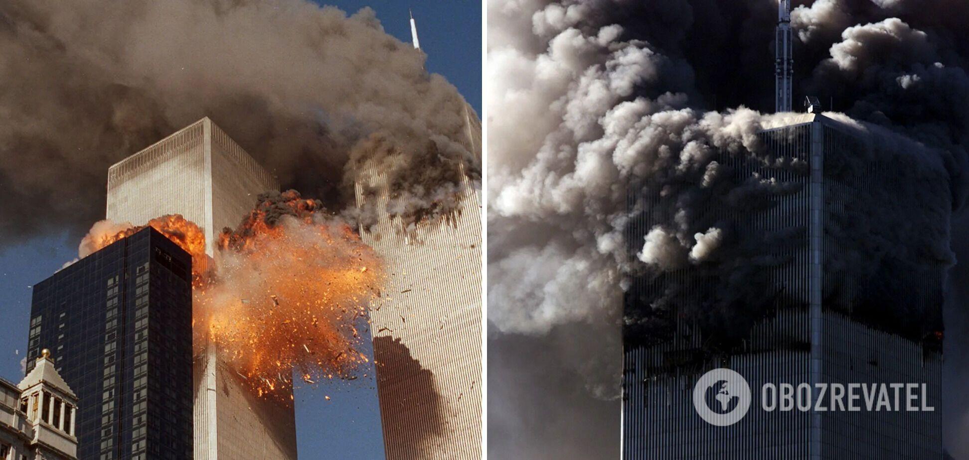 Примерно через два часа оба небоскреба рухнули