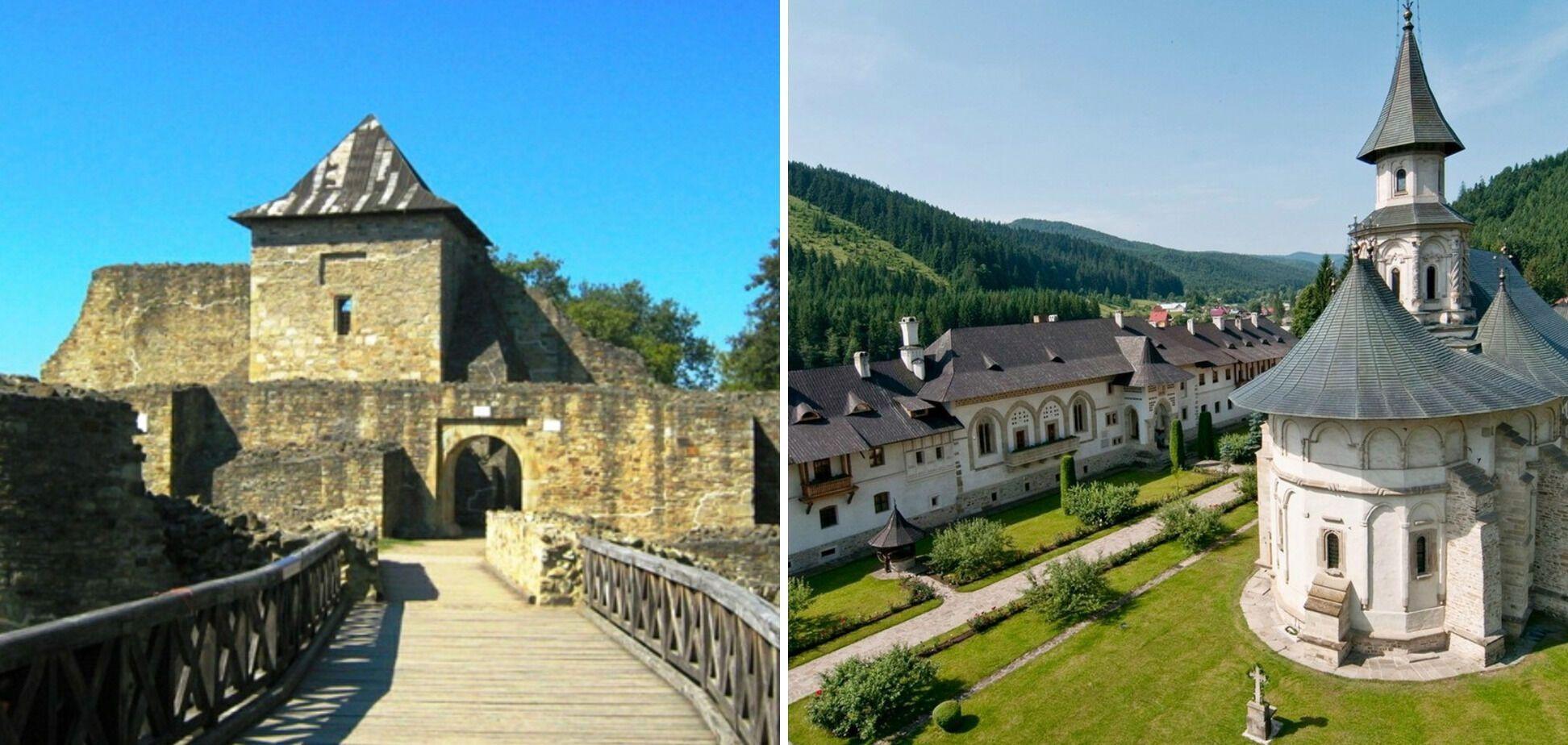 Тронна фортеця в Сучаві та монастир у Путні.