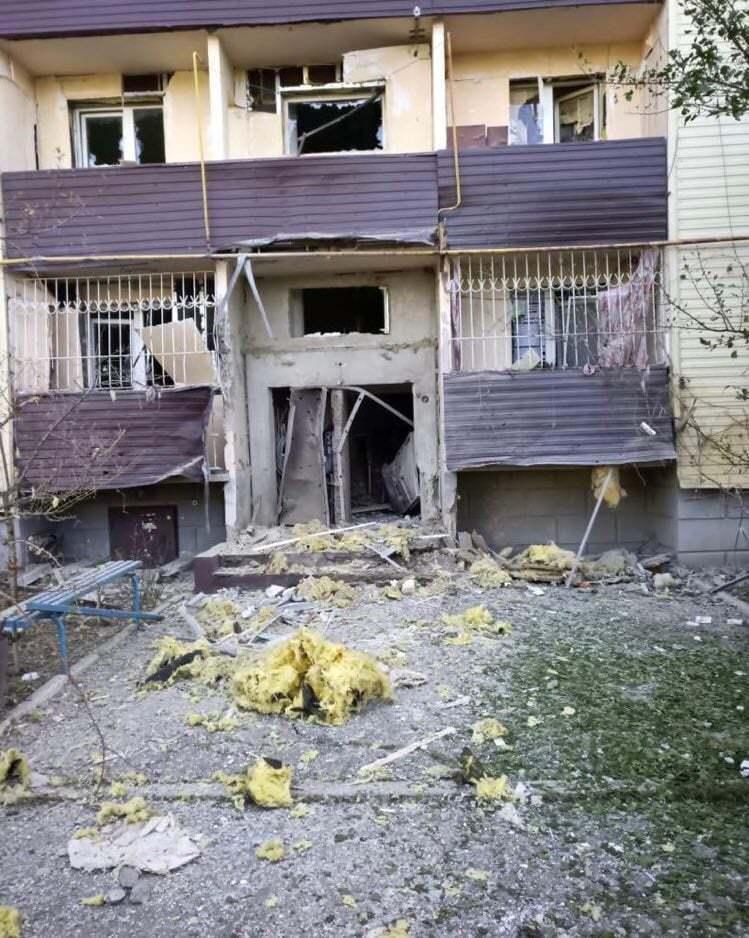 Последствия обстрела на Луганщине.