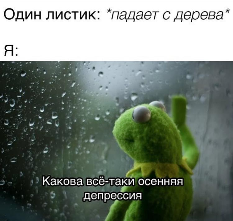 Мем про осень