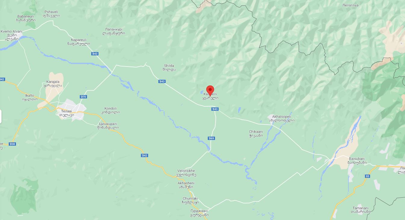 Город Кварели в Грузии