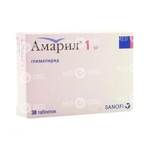 Амарил М 1 мг/250 мг