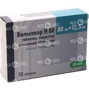 Валсартан 80/Гидрохлоротиазид 12,5 Крка